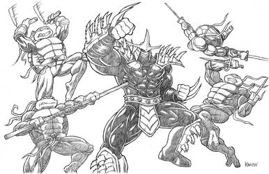 Turtles vs Super Shredder by Kracov