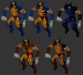 Wolverine custom costumes by Kracov
