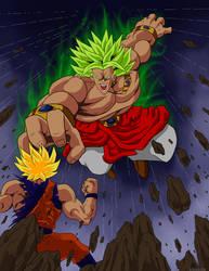 Broly the Legendary Super Saiyajin by Kracov