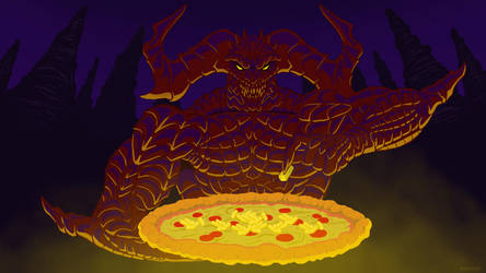 Satan's Pineapple Pizza by Kracov