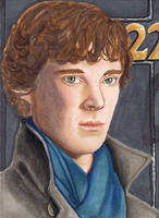 Sherlock - left side of puzzle card by Purple-Pencil