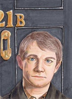 John Watson - Sherlock right side of puzzle cards by Purple-Pencil