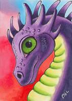 Purple dragon by Purple-Pencil