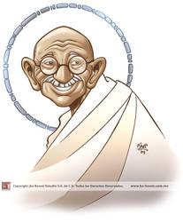 Gandhi by marimoreno