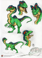 Dilophosaur by marimoreno