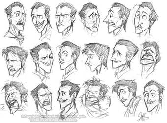 Anthony Marshall's Expressions Study by marimoreno