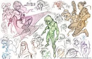 Karmatron Sketchdump by marimoreno