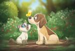 Dogui and Gaty by marimoreno