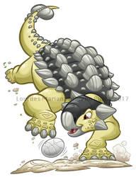 Dino Dunk Ankylosaurus by marimoreno