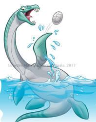 Dino Dunk Plesiosaurus by marimoreno