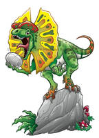 Dino Dink Dilophosaurus by marimoreno