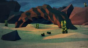 Low Poly Desert. by pyxArtz