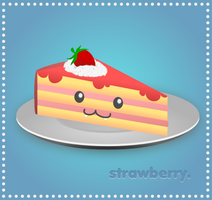 Slice of Strawberry Cake by wildgica