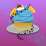 A Colorful Cupcake by wildgica