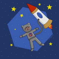 A Bear in the Space by wildgica