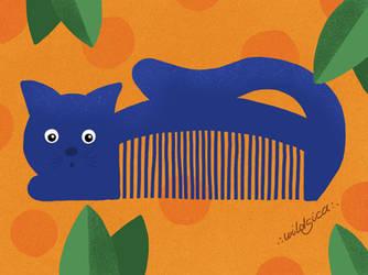 Retro Cat Comb by wildgica