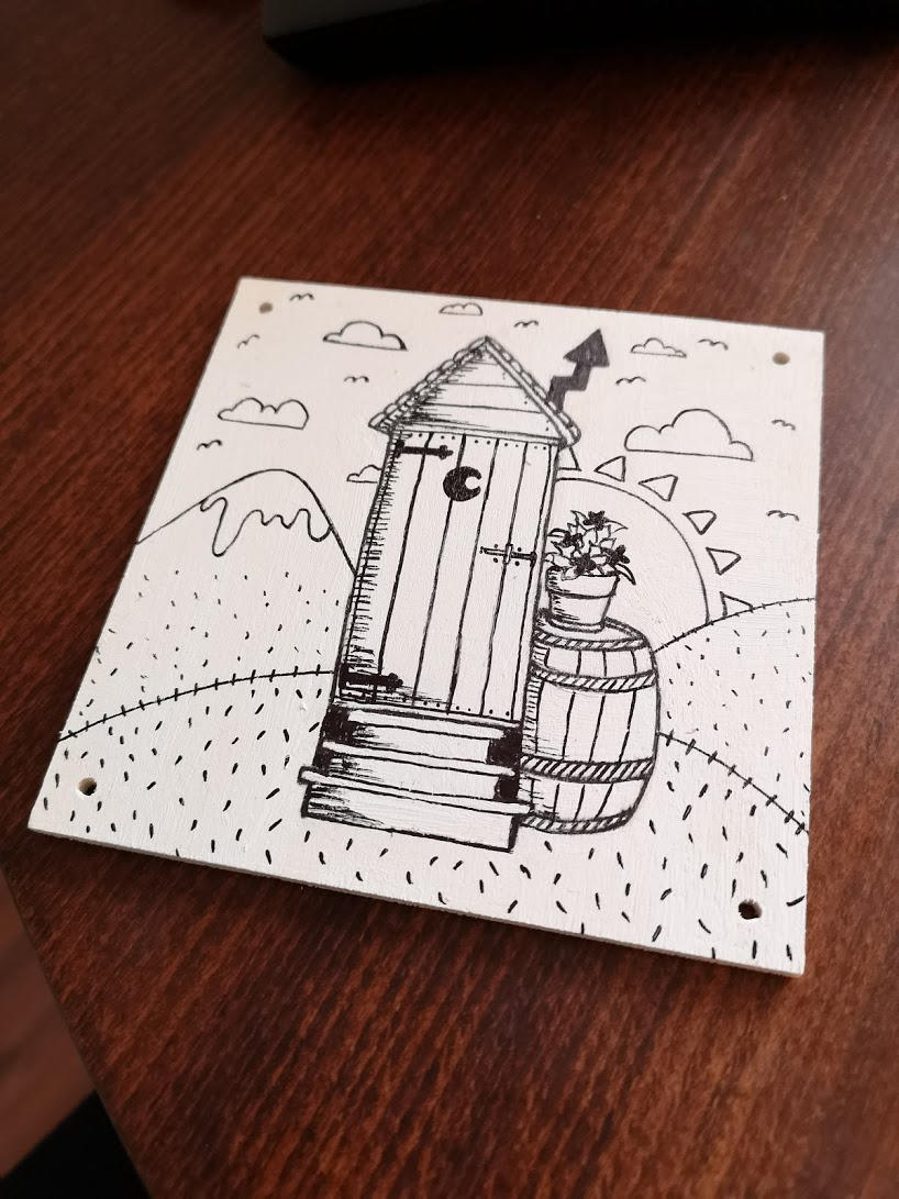 Outhouse on wood by wildgica