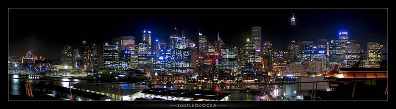 Sydney at night by subaqua