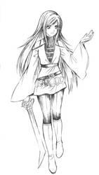 Commish: Tsuki Chieko by paipang