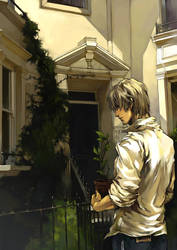 C in front of his house by SHIBUE
