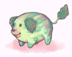 Watermelon Doggie by Lavender-Dreamer