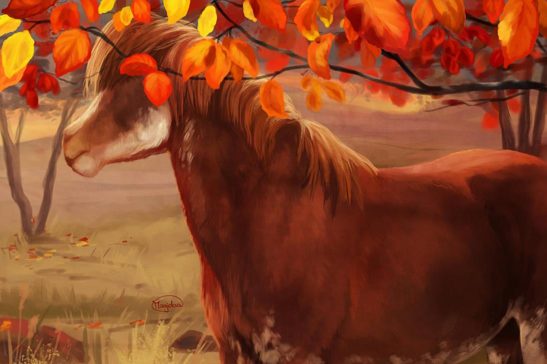Rusty leaves by Magidaa