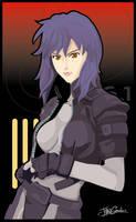 GITS: Motoko Kusanagi by witchking08