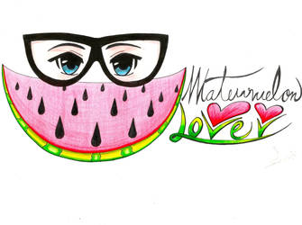 Watermelon Lover (final comission) by StefanyVelouette