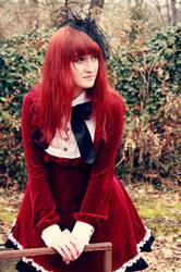 Gothic lolita in red by Ketmara