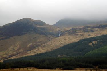 Scottish hillside in fog by bobcraton