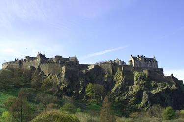 Edinburgh Castle from Princes Street by bobcraton