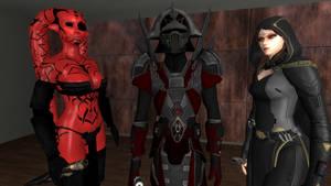 Darth Talon, Darth Chezzyc and Vaylin by GmodJo