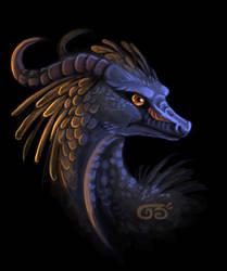 Orangefeathered jungle dragon by griffsnuff