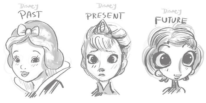 Disney evolution by griffsnuff