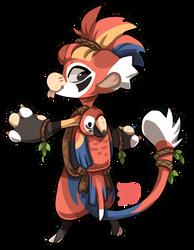 #106 Bagbean - Scarlet macaw by griffsnuff