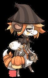 #113 Nomnom Bagbean - Pumpkin by griffsnuff