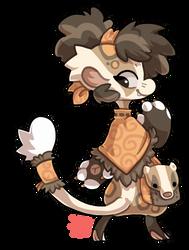#123 Bagbean - Japanese badger by griffsnuff