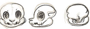 Bagbean Skull doodle by griffsnuff