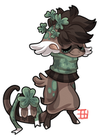 #1236 Celestial BB - Clover bear by griffsnuff