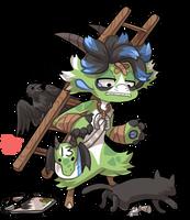 #1300 Mythical BB - Unlucky Dragon by griffsnuff