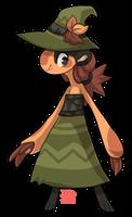 #323 Parasplicer - Green witch by griffsnuff