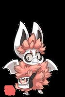 #1345 Tribal BB - Cotton candy Fluff Bat by griffsnuff