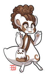 #1380 Nomnom BB - Chocolate Candy Ghost by griffsnuff