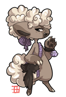 #1444 Hollow BB - Wolf Tail - AUCTION by griffsnuff