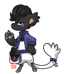 #1537 Charity Bagbean - Curl crested jay - AUCTION by griffsnuff