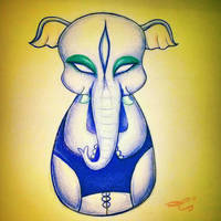 The happy elephant by Riquis101