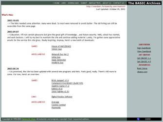 Web Interface: BASIC Archives by ManixTT