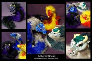 Antlered Sneks by WormsandBones