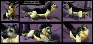 German Shepherd Soft Sculpture by WormsandBones
