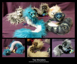 Tea Monsters by WormsandBones
